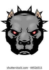 Pit-bull Illustration with Illustrator file