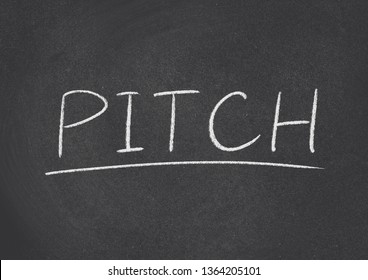pitch concept word on a blackboard background