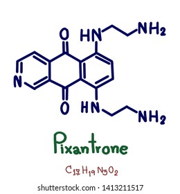 Pixantrone  is an experimental antineoplastic (anti-cancer) drug, an analogue of mitoxantrone with fewer toxic effects on cardiac tissue. It acts as a topoisomerase