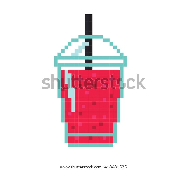 Pixel Art Smoothie Illustration Stock Illustration 418681525