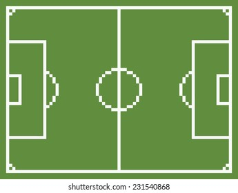 Pixel Football Images Stock Photos Vectors Shutterstock