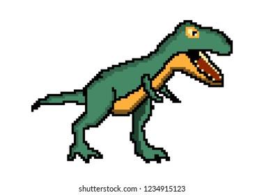 Pixel Art T-Rex Dinosaur 8 Bit