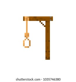 Pixel gallows for games and web sites