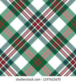 Pixel seamless pattern check tartan fabric texture.