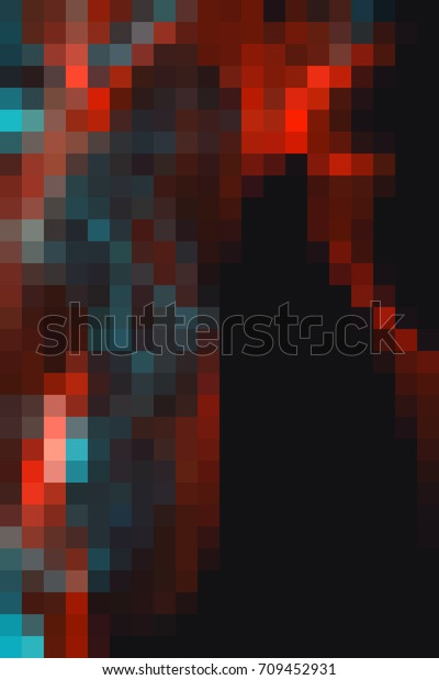 Pixelated Colorful Vivid Background Web Banners Stock