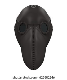 Plague Doctor Mask Isolated. 3D rendering