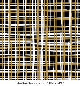 Plaid abstract pattern. Tartan seamless pattern background. Seamless vintage print for wallpaper or fabric. Seamless wallpaper pattern. Abstract background. Gold. New year. Christmas pattern.