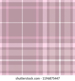Plaid pattern in dusty amaranth purple, pink and white.