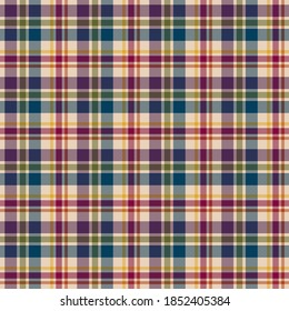 Plaid Seamless Pattern - Colorful plaid repeating pattern design