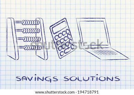 plan your savings establish budget abacus stock illustration