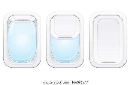 plane porthole illustration isolated on white background