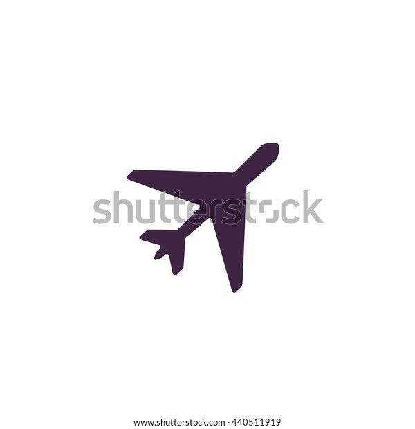 Plane. Simple blue icon on white background
