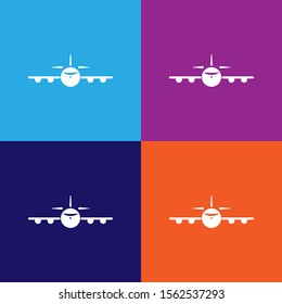 plane view from the front icon. Element of travel icon for mobile concept and web apps. Detailed plane view from the front icon can be used for web and mobile