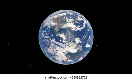 Planet Earth 3D illustration (Elements of this image furnished by NASA)
