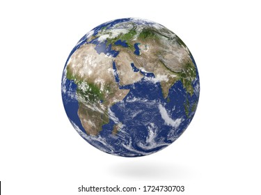 Planet Earth in Africa isolate. Elements of this image furnished by NASA. 3d rendering