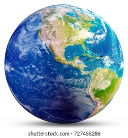 Planet Earth - America. Elements of this image furnished by NASA. 3d rendering