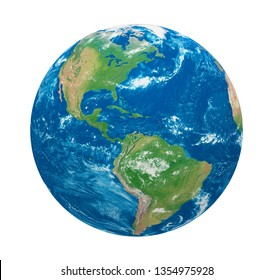 Planet Earth America View Isolated (Elements of this image furnished by NASA). 3D rendering