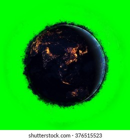 Planet Earth Artwork - Super High Resolution - Green Screen Background (Elements of this image furnished by NASA)