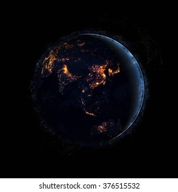 Planet Earth Artwork - Super High Resolution (Elements of this image furnished by NASA)