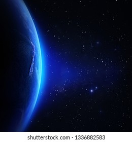 Planet Earth background. Elements of this image furnished by NASA. 3d rendering