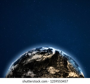 Planet Earth climate. Elements of this image furnished by NASA. 3d rendering