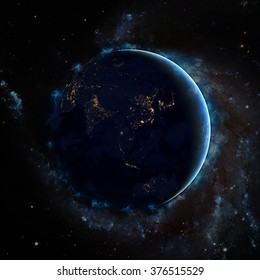 Planet Earth Energetic Field's Universe - Super High Resolution (Elements of this image furnished by NASA)