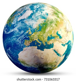 Planet Earth - Europe. Elements of this image furnished by NASA. 3d rendering