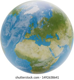 planet earth globe 3d-illustration. elements of this image furnished by NASA