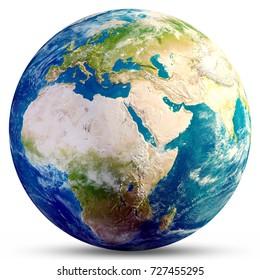 Planet-Erde-Globus. Elemente dieses von der NASA bereitgestellten Bildes. 3D-Rendering