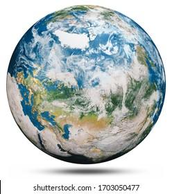 Planet-Erde-Globus einzeln. Elemente dieses von der NASA bereitgestellten Bildes. 3D-Rendering