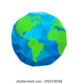 Planet Earth low poly style