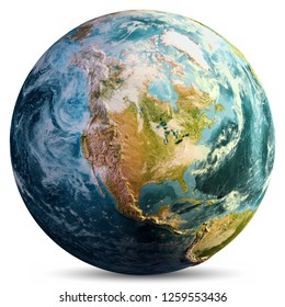 Planet Earth map. Elements of this image furnished by NASA. 3d rendering