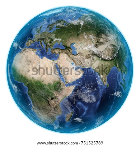 Planet Earth on White Background. 3D illustration