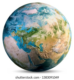 Planet Earth world. Elements of this image furnished by NASA. 3d rendering