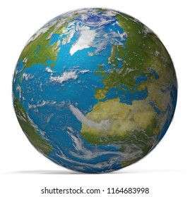 planet earth world wide. elements of this image furnished by NASA 3d-illustration