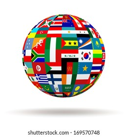 World flags on globe usa great stock illustration 609142271 planet flags 3d freerunsca Image collections
