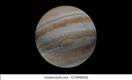 planet Jupiter isolated (3d render, elements of this image are furnished by NASA) - Illustrations