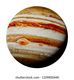 planet Jupiter isolated on white background, part of the solar system (3d space rendering, elements of this image are furnished by NASA)