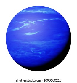 planet Neptune isolated on white background, part of the solar system (3d space render, elements of this image are furnished by NASA)