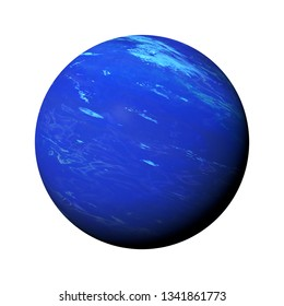 planet Neptune isolated on white background, part of the solar system (3d space rendering, elements of this image are furnished by NASA)
