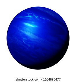planet Neptune, part of the solar system isolated on white background (3d space render, elements of this image are furnished by NASA)