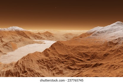 Planet surface. Fantastic planet