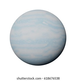 planet Uranus isolated on white background (3d illustration, elements of this image are furnished by NASA)