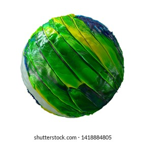 Planetary, 3D Model Of The Planet Isolated On White Background, High Resolution, Highly Detailed. Abstract Background, Sphere, Form. 3D Illustration, 3D Rendering.
