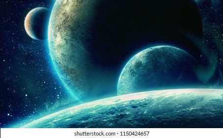 planets; 3d illustration