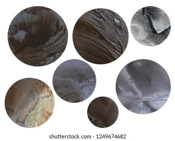 planets on a white background