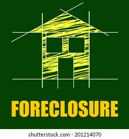 Plans Foreclosure Representing Repayments Stopped And Layout
