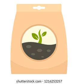 Plant seed pack icon. Flat illustration of plant seed pack icon for web design