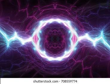 Plasma electrical lightning, abstract plasma background