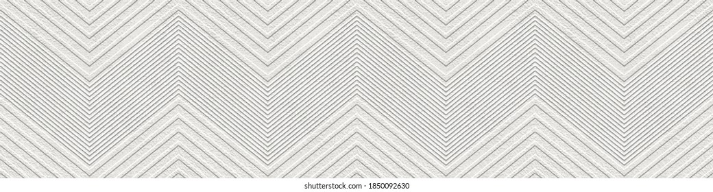 Plaster wall seamless texture with chevron pattern, grunge background, long texture, 3d illustration
